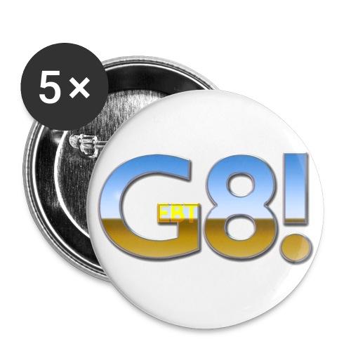 Gebt acht! Button - Buttons klein 25 mm (5er Pack)