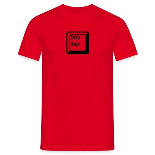 Any Key - Männer T-Shirt