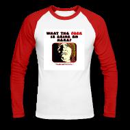 Long sleeve shirts ~ Men's Long Sleeve Baseball T-Shirt ~ Horror Hospital Askwith WTF