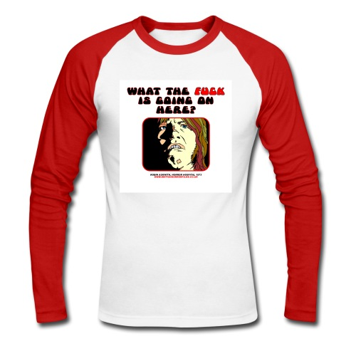 Horror Hospital Askwith WTF - Men's Long Sleeve Baseball T-Shirt