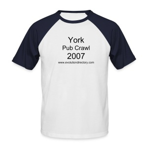 York Pub Crawl T-Shirt - Men's Baseball T-Shirt