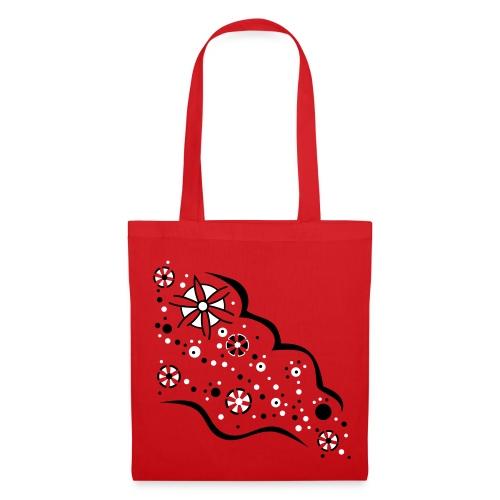 Blumen Flut Tasche - Stoffbeutel