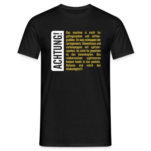 Achtung Bedienungsanleitung! - Männer T-Shirt