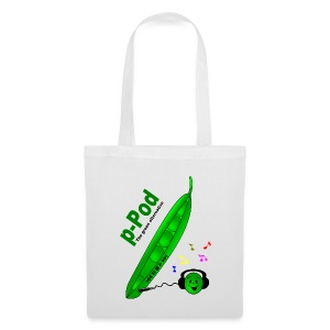 p-Pod (White Shopping Bag) - Tote Bag