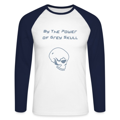 Grey Skull Mens Long sleeve T-Shirt - Men's Long Sleeve Baseball T-Shirt