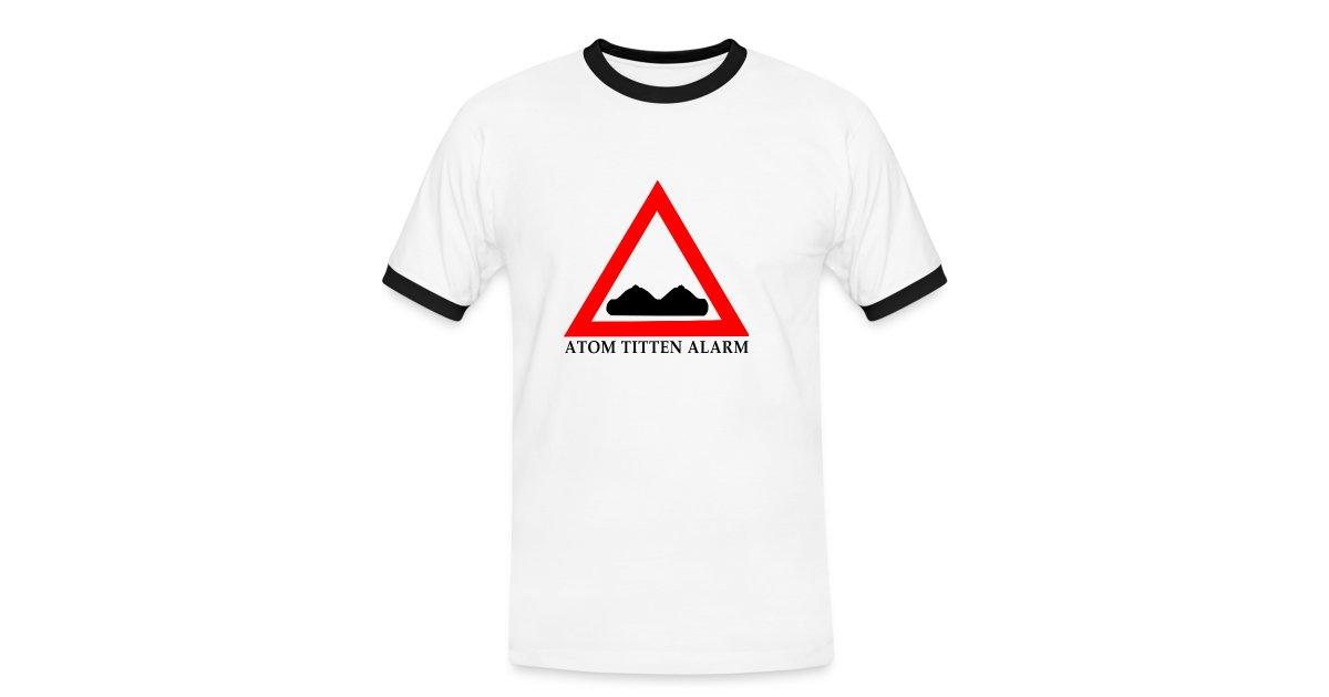 FAST FOOD SHIRTS   ATOM TITTEN ALARM - Männer Kontrast-T-Shirt