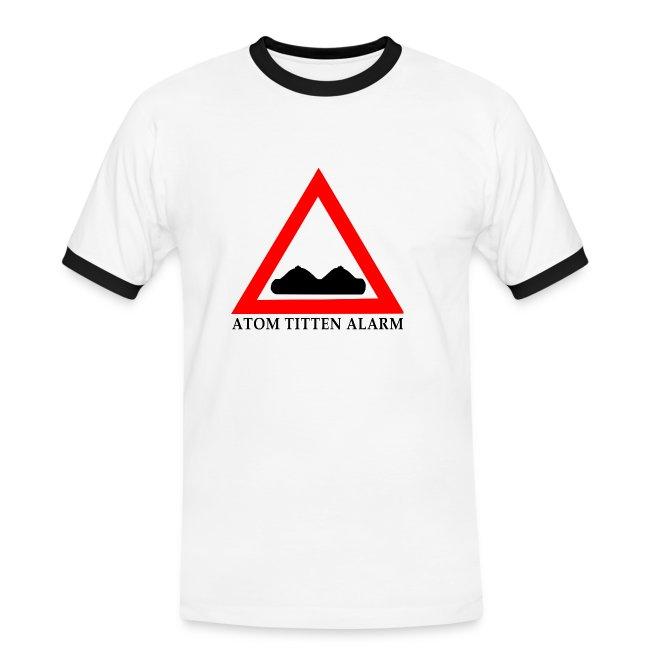 FAST FOOD SHIRTS | ATOM TITTEN ALARM - Männer Kontrast-T-Shirt
