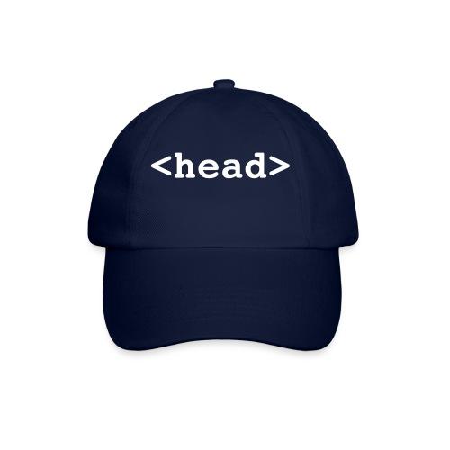 Baseballkappe - der Head-Tag an der richtigen Stelle ;-)