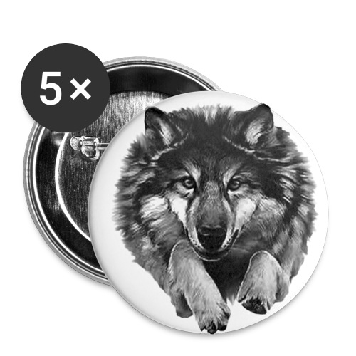 badge loup - Badge petit 25 mm