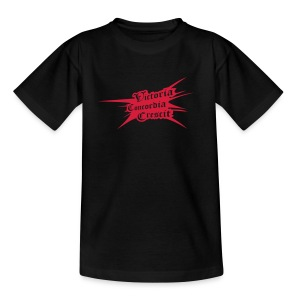 Victoria Concordia Crescit Black - Teenage T-shirt