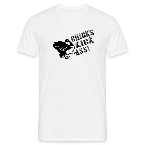 CHICKS KICK ASS - Miesten t-paita