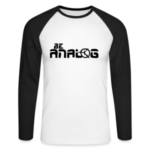 Be Analog Longarm - Männer Baseballshirt langarm