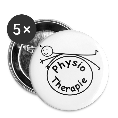 Physiotherapie mit Pezziball Button&Anstecker - Buttons groß 56 mm