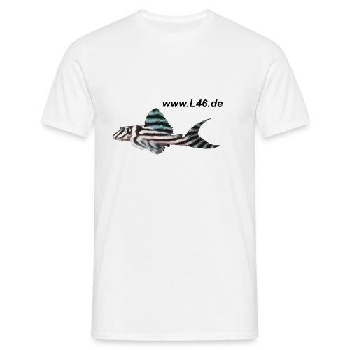T-Shirt Weiß Logo vorne, groß, mittig - Männer T-Shirt