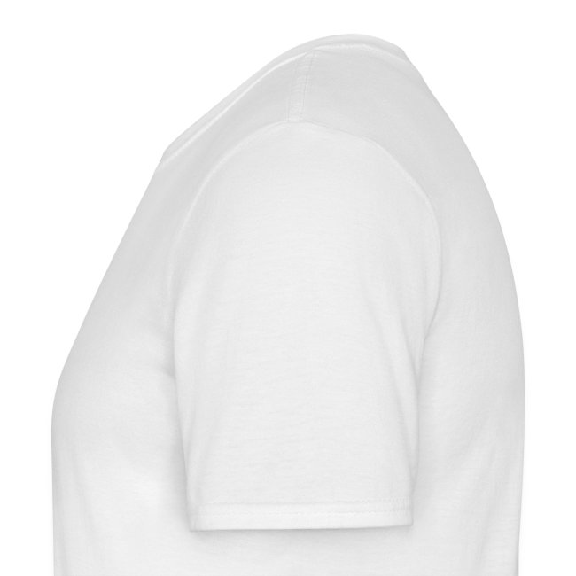 T-Shirt Weiß Logo vorne, groß, mittig