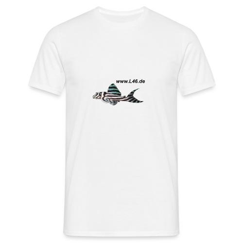 T-Shirt Weiß Logo vorne, mittel, mittig - Männer T-Shirt