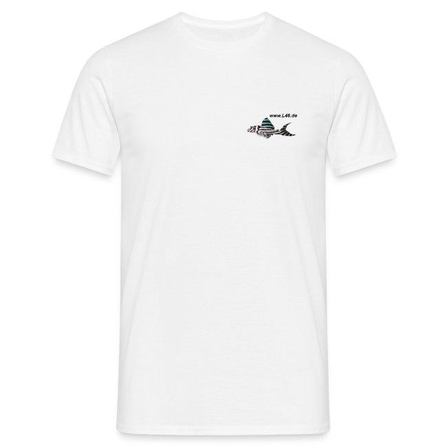T-Shirt Weiß Logo vorne klein herzseitig