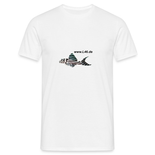 T-Shirt Weiß Logo zweiseitig mittel+groß - Männer T-Shirt