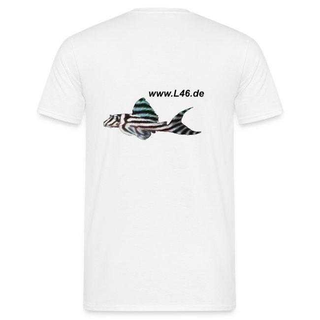 T-Shirt Weiß Logo zweiseitig mittel+groß