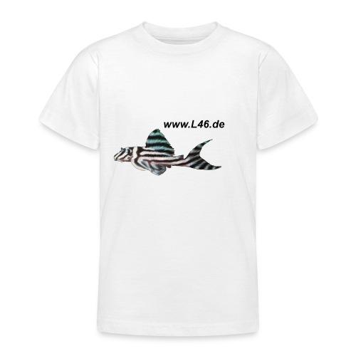 Kinder-T Weiß Logo vorne, groß, mittig - Teenager T-Shirt
