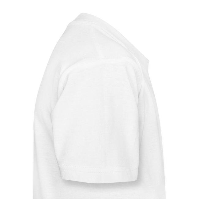 Kinder-T Weiß Logo vorne, groß, mittig