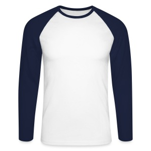 clas. longsl. baseb. t whi/dbl - Men's Long Sleeve Baseball T-Shirt