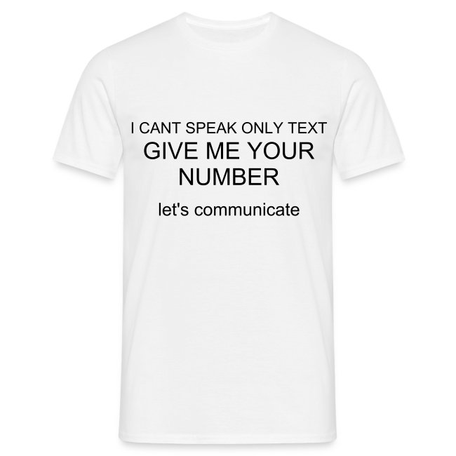 give me your number t-shirt