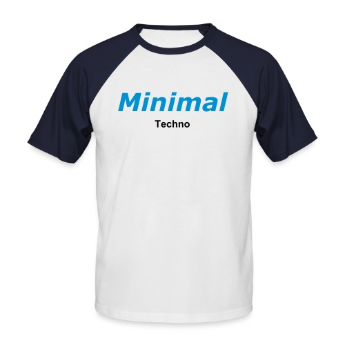 Shirt Minimal Techno - Männer Baseball-T-Shirt