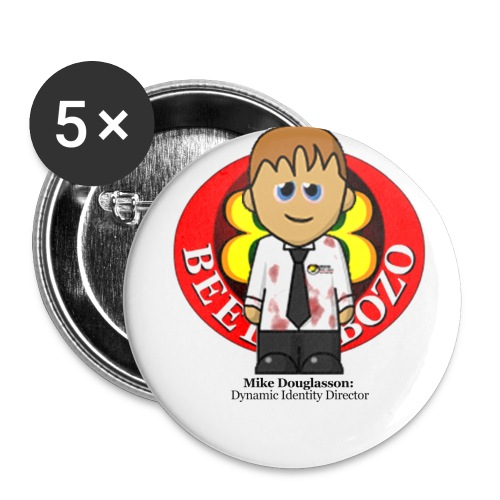 My very own biometric name badge - Mike - Buttons small 25 mm