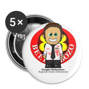 My very own biometric name badge - Douglas - Buttons small 25 mm