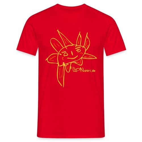 Lion's Sonne mit Logo - Männer T-Shirt