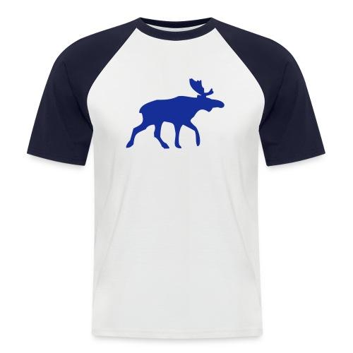 Elch - Männer Baseball-T-Shirt