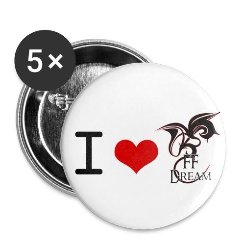 Pins I Love FFDream - Badge petit 25 mm
