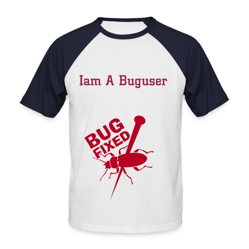 Bug-User - Männer Baseball-T-Shirt