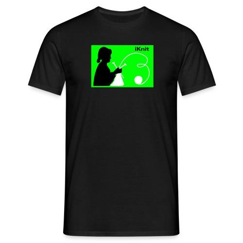 iKnit Shirt black - Männer T-Shirt