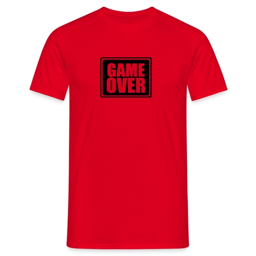 Red GAME OVER T - Men's T-Shirt
