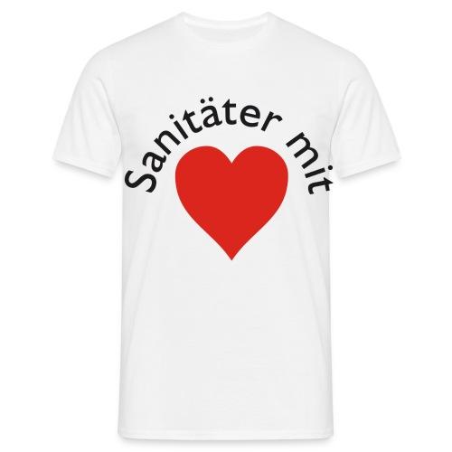 Classic-T Sanitäter mit Herz - Männer T-Shirt