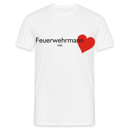 Classic-T Feuerwehrmann mit Herz - Männer T-Shirt