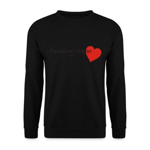 Sweater Feuerwehrmann mit Herz - Männer Pullover
