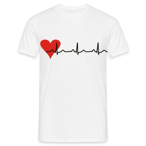 Classic-T Herz-EKG - Männer T-Shirt
