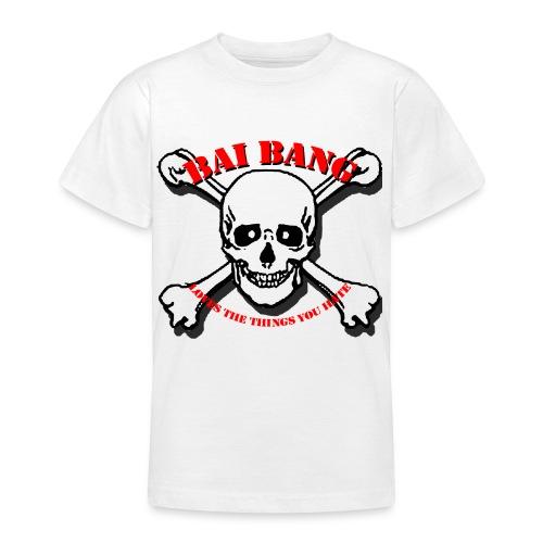 Childs T- white skull - Teenage T-Shirt
