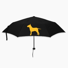 Black bullterrier Umbrellas