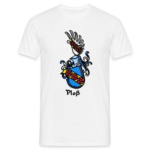 Wappen Ploß groß - Männer T-Shirt