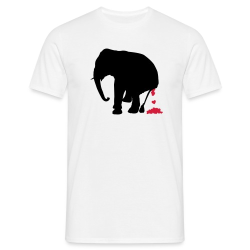 Elephant Shits Hearts - Men's T-Shirt