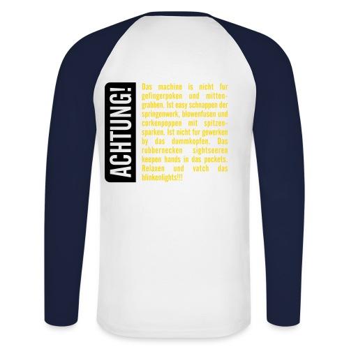 022 - Männer Baseballshirt langarm