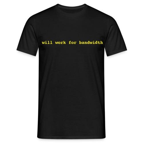 will work for - Männer T-Shirt