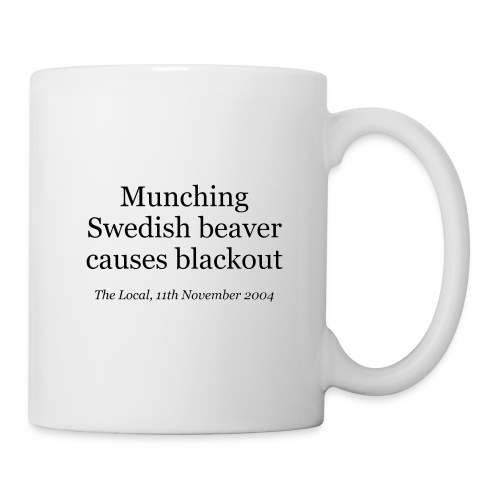 Munching Swedish beaver causes blackout - Mug