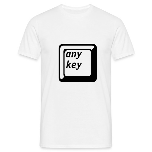 Press any key - Männer T-Shirt