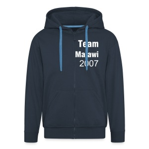Malawi Hoody with name on reverse - Men's Premium Hooded Jacket