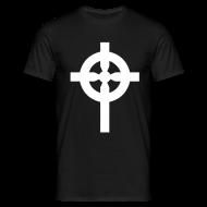 Tee shirts ~ Tee shirt Homme ~ T-Shirt noir croix celte blanche devant